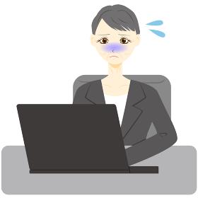 パソコン 女性 会社員 ミドル ピンチ