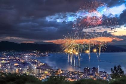 長野県・諏訪湖祭湖上花火大会 2015