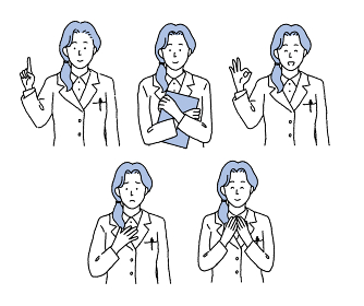 シンプルなタッチ 女性医師の上半身のイラスト
