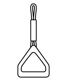 三角形のつり革(モノクロ)