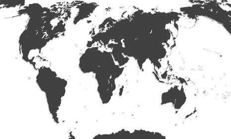 Map Of The World. Vector Illustration. EPS10. Map Of The World. Vector Illustration.