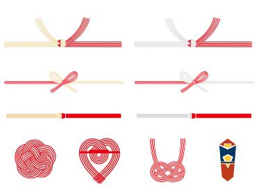 水引き 赤色の飾り素材