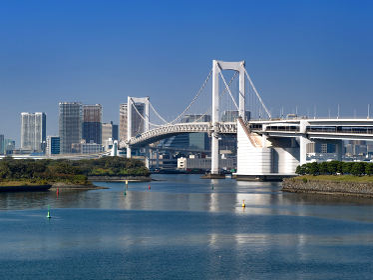 レインボーブリッジと東京港 東京都