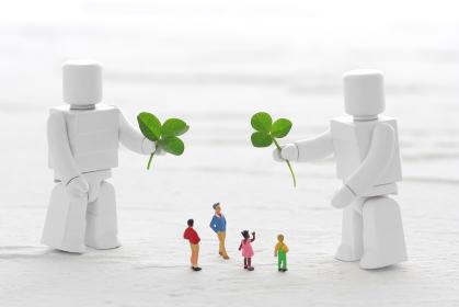 人間とロボットが共存する明るい未来社会