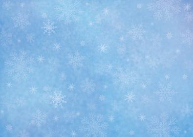 冬景色 雪の舞い 青