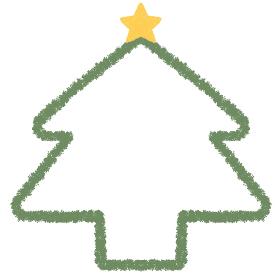 クリスマスツリーのフレーム