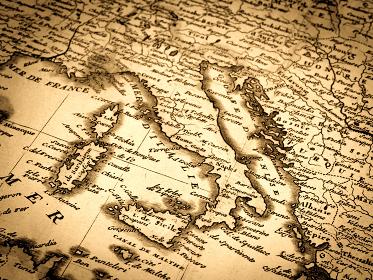 アンティークの世界地図 イタリア
