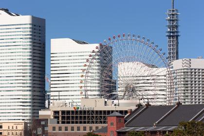 横浜大桟橋から見たみなとみらい・日本