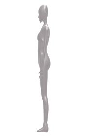 横を向くダーク色の女性