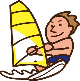 世界イラストマップ ウィンドサーフィン