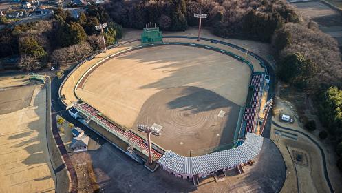 空撮した野球スタジアム