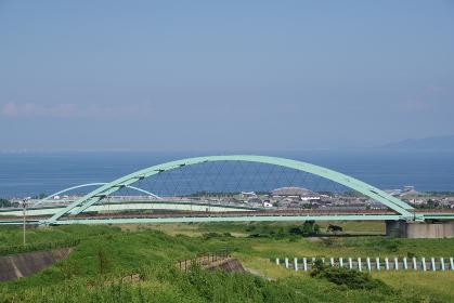 2つの鉄橋と有明海
