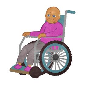 車いすに座っているおじいさん ヒスパニック系バージョン