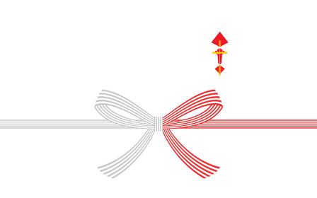 のしつき水引、紅白5本の蝶結び
