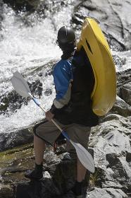 Man Ready For Kayaking
