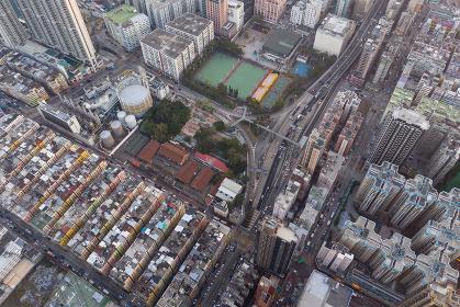 To kwa wan, Hong Kong 29 January 2019: Top view of Hong Kong old town