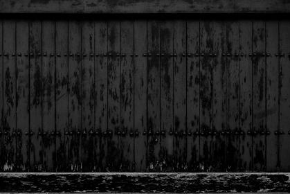 黒い板塀 3302