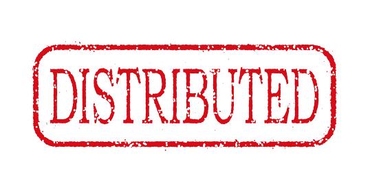 ビジネス用スタンプ イラスト/DISTRIBUTED (支給・分配)