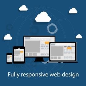 Responsive web design icon. Vector Illustration. EPS10. Responsive web design icon. Vector Illustration