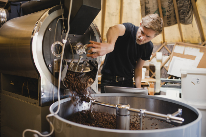 Roasting the Coffee Beans