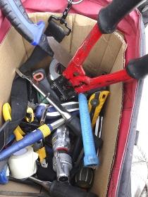 電気工事の工具バッグ