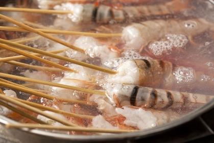 寿司ネタ海老調理