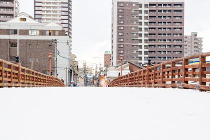 雪の小倉 常盤橋