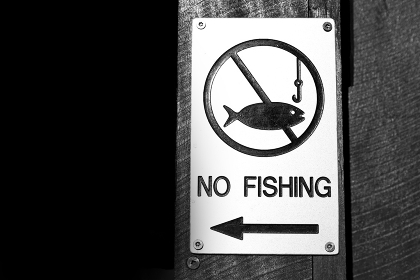 in  australia   the sign of  no fishing like law information