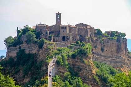 country of Bagnoregio in  province of viterbo