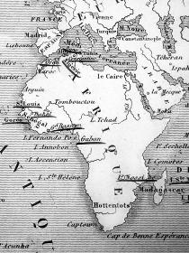 古い世界地図 アフリカ