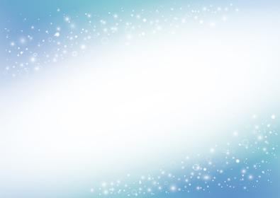 美しい水色の抽象的イメージ背景素材(横長 A3・A4比率 斜めに装飾)