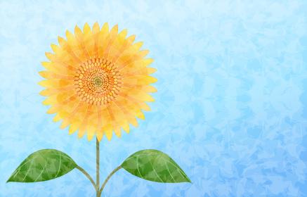 大輪の向日葵のイラスト