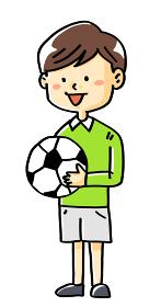 イラスト素材サッカー少年子供