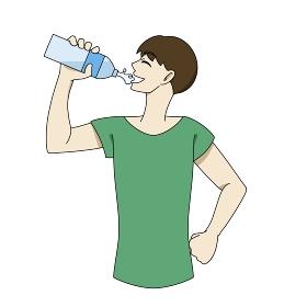 水分補給 ペットボトル 男性