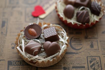 ハート型のバレンタインチョコレート