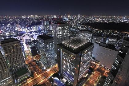 西新宿ビル群夜景俯瞰
