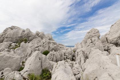 白崎海岸の奇岩