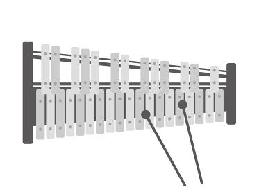 楽器の鉄琴のイラスト