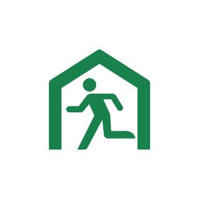 安全記号イラスト / 避難所・避難場所