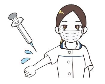 ワクチン接種 医療従事者 女性 マスク