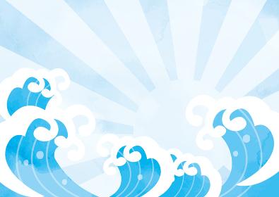 水彩画風の明るい波