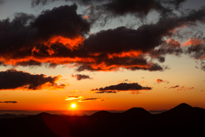 日本の国立公園・奥日光、明智平の日の出