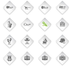 musical genre web icons