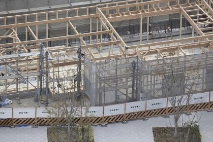 木造建築物の骨組み