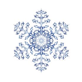 雪の結晶 雪片 スノーフレーク 水彩 イラスト