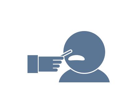 PCR検査で鼻の粘膜を採取するイラスト