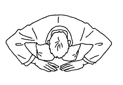 シンプルなタッチ 土下座するビジネスマンのイラストレーション