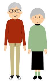 老夫婦 シニアカップル 高齢者