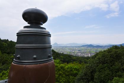 金刀比羅宮展望台からの眺望と擬宝珠