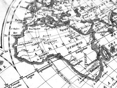 アンティークの世界地図 アフリカ